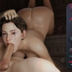 Hard blowjob Sex World 3D